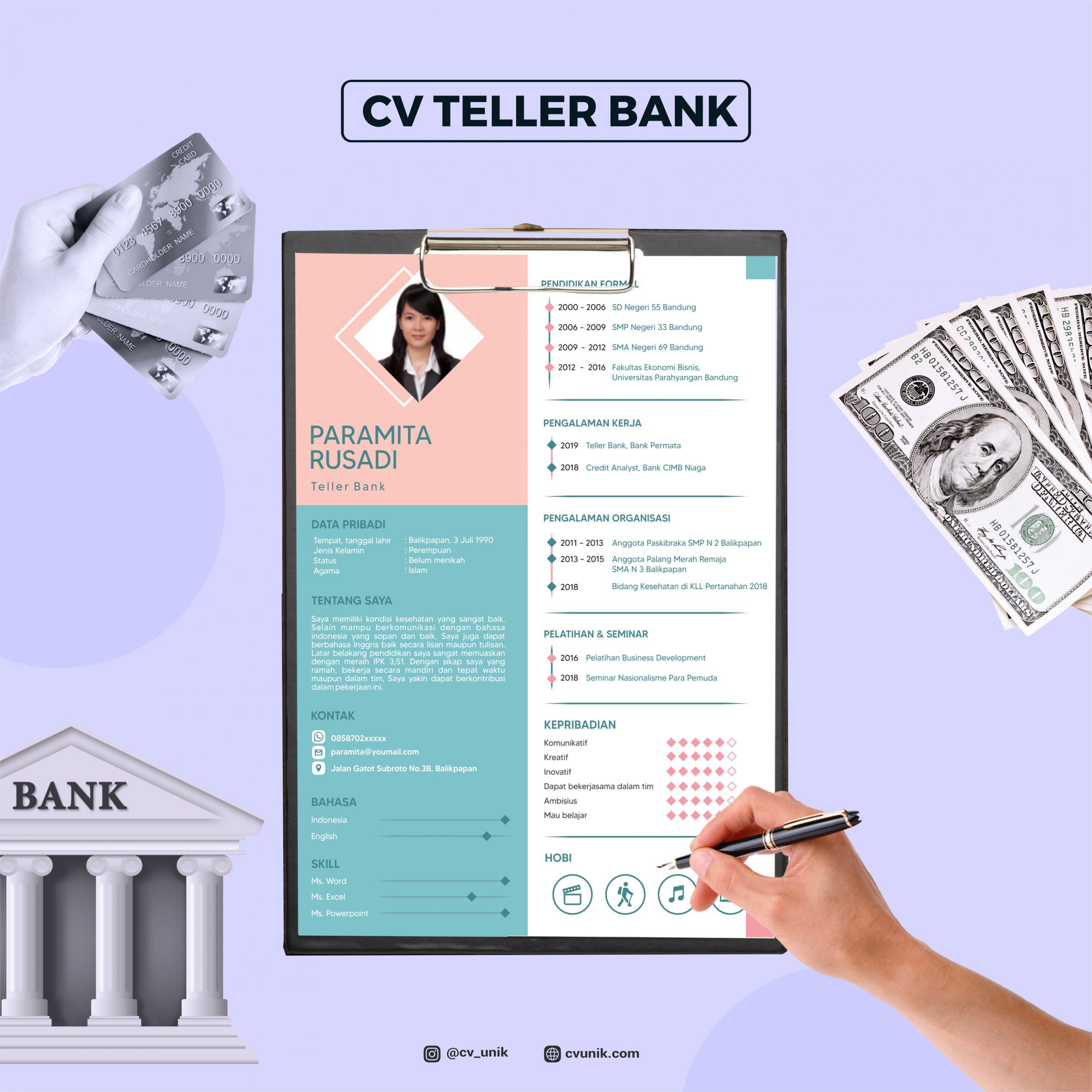 Curriculum Vitae Teller Bank